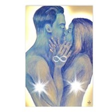 TwinFlames-bluesouls Postcards (Package of 8)