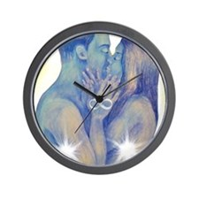 TwinFlames-bluesouls Wall Clock