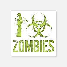 "i-bio-zombies-T Square Sticker 3"" x 3"""