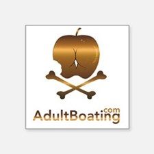 "AdultBoating_logo_vertical Square Sticker 3"" x 3"""