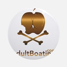 AdultBoating_logo_vertical Round Ornament