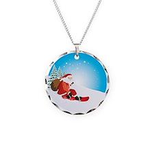 Santa Snowboard Necklace