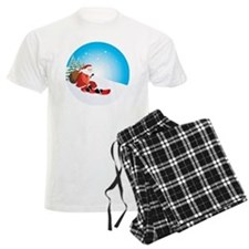 Santa Snowboard Pajamas