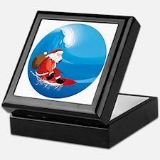 Santa Surf Keepsake Box