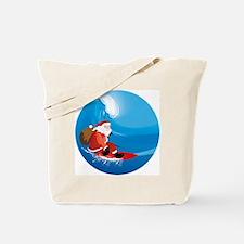 Santa Surf Tote Bag