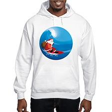Santa Surf Hoodie