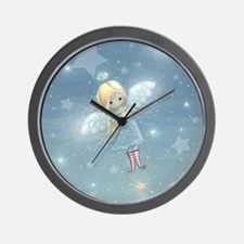 little star angel cp Wall Clock
