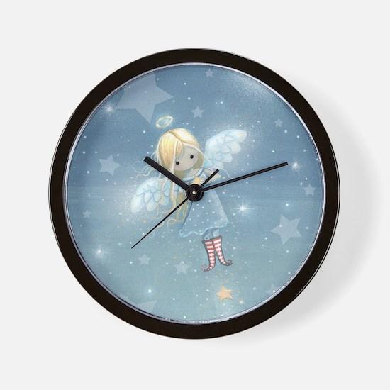 little star angel cp Wall Clock
