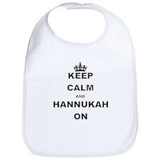 KEEP CALM AND HANNUKAH ON Bib
