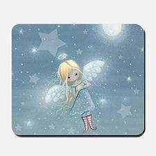 little star angel square Mousepad
