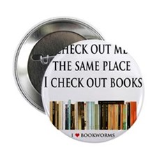 "Check out men and books 2.25"" Button"