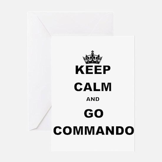 KEEP CALM AND GO COMMANDIO Greeting Cards