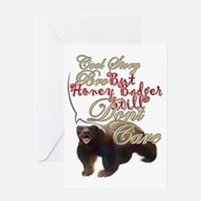 Honey Badger Cool Story Greeting Card