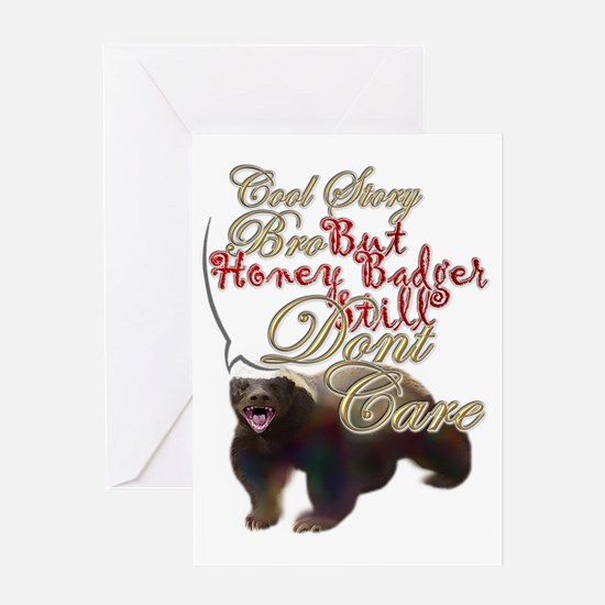 Honey Badger Cool Story Greeting Card