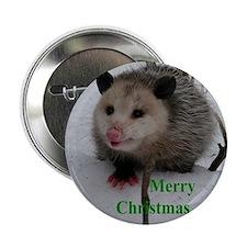 """Snow Possum 2.25"""" Button"""