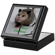 Snow Possum Keepsake Box