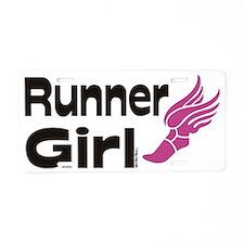 runner girl Aluminum License Plate
