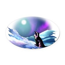 fade Oval Car Magnet