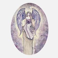 angels perch gcu Oval Ornament