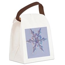 Holiday Ornamant - Snowflake Canvas Lunch Bag