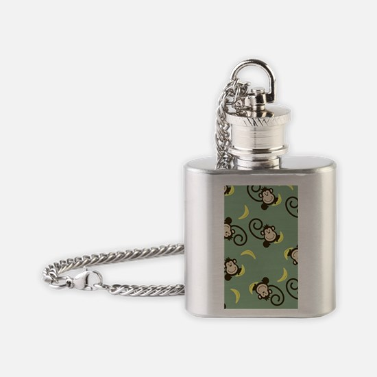 Silly Monkey Green iPhone 4G Case Flask Necklace