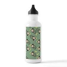 Silly Monkey Green iPh Water Bottle