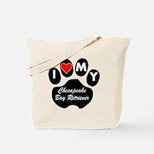 I Heart My Chesapeake Bay Retriever Tote Bag