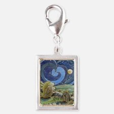 Home Is Where The Heart Is Silver Portrait Charm