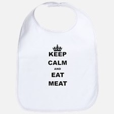 KEEP CALM AND EAT MEAT Bib
