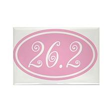 26.2.frivolity.pinkclear Rectangle Magnet