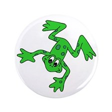 "Green Frog 3.5"" Button"