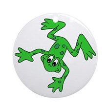 Green Frog Round Ornament
