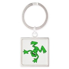 Green Frog Square Keychain
