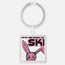 harcore ski bunny Square Keychain