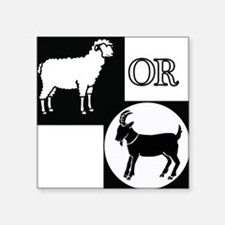 "Sheep or Goat silhouette Square Sticker 3"" x 3"""