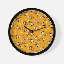 Silly Monkeys iPad Case Orange Wall Clock