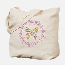 Purple Butterfly for Lupus Tote Bag