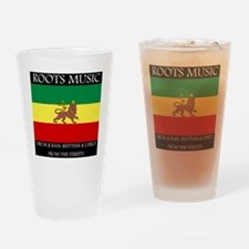Roots-Music-Flag-Ethiopia Drinking Glass