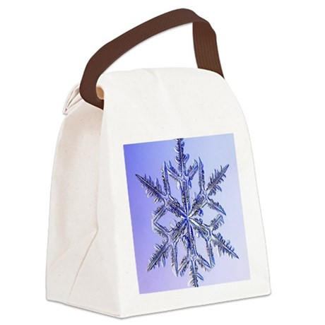 Holiday ornament round snowflake Canvas Lunch Bag