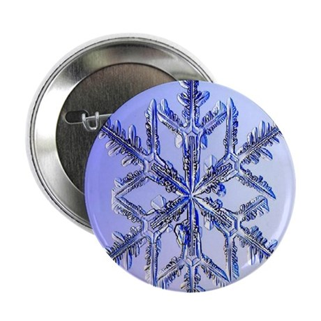 "Holiday ornament round snowflake 2 2.25"" Button"