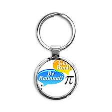 Pi Large 2ten inch.eps Round Keychain