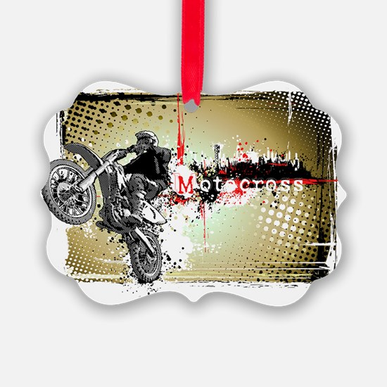 Motocross Puzzle 3 Ornament