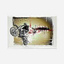 Motocross Puzzle 3 Rectangle Magnet