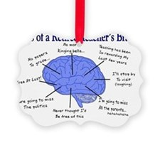 Atlas of a Retired Teachers Brain Ornament