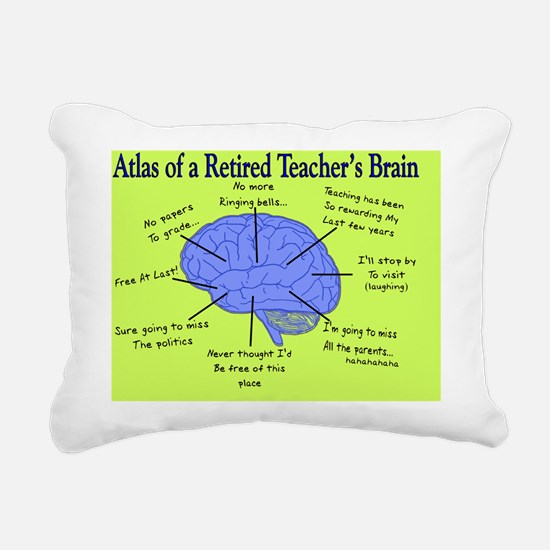 Retired Teachers Brain C Rectangular Canvas Pillow