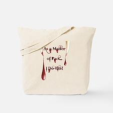 I Do Bite Bleeding Cowboy 144.gif Tote Bag