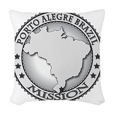 Porto Alegre Brazil LDS Missio Woven Throw Pillow