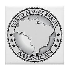 Porto Alegre Brazil LDS Mission Tile Coaster