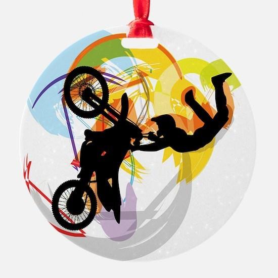 Motocross Puzzle 13 Ornament