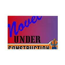 Novel Under Construction journal2 Rectangle Magnet